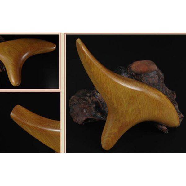 1 pi ces Triangle trig minal corps Relax bois parfum cou Shiatsu r flexologie en bois 4