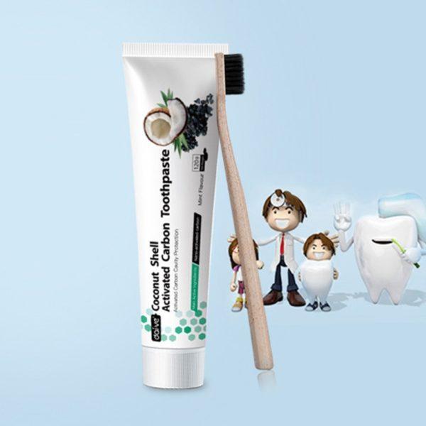 120G de dentifrice au charbon actif en coquille de noix de coco blanchiment des dents hygi 4