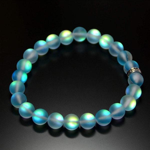 Bracelets de pierre de lune en cristal de verre sir ne multicolore mat brillant bracelet breloques 3