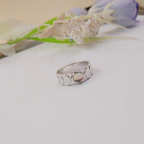 Mode Vintage la main lune Phase anneau de doigt lune bijoux pour dame taille 7 10 1