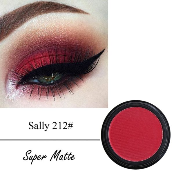 Mode maquillage ombre paupi res imperm able l eau mat Pigment Palette doux paillettes miroitant couleurs 4