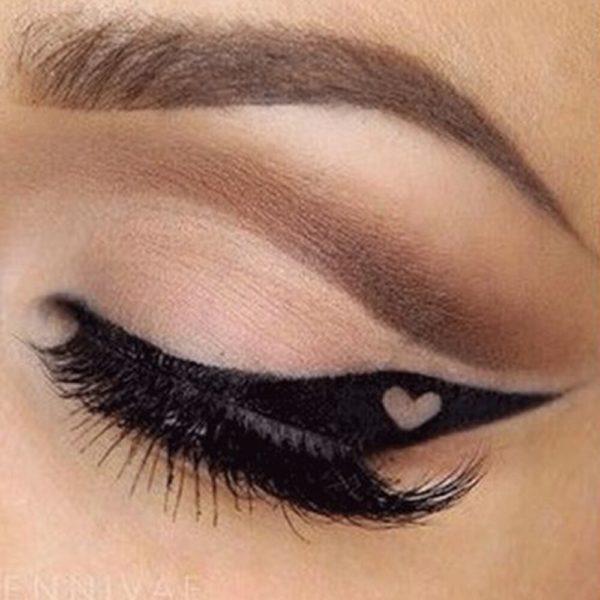 PHOERA noir 2in1DIY stylo Eyeliner Sexy durable Eyeliner tanche Double c t s ligne des