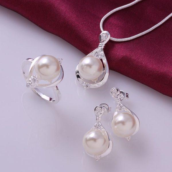 S733 ensemble de bijoux en argent plaqu ensemble de bijoux de mode boucle d oreille 503