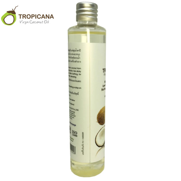 Tropicana 100 huile de noix de coco Extra vierge naturelle bio tha lande meilleure presse froid 1