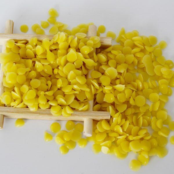 WISHMETYOU 50g 100 Pure cire d abeille naturelle bougies savon fournitures blanc et jaune abeille cire 5