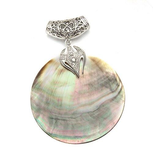 XINYAO Vintage pendentif en coquille de nacre naturelle Antique argent plaqu pendentifs en coquille d ormeau 1